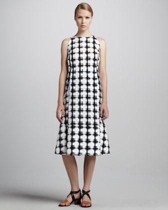 Marni Check-Print A-Line Dress