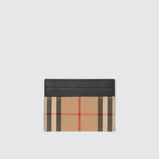 Burberry Vintage Check and Leather Card Case