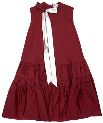 Simonetta Silk Blend Dress W/ Bow