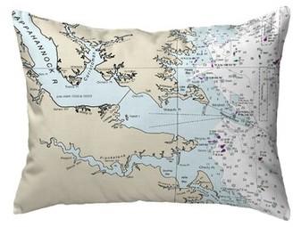 V&A East Urban Home Chesapeake Bay VA Non-Corded Indoor/Outdoor Lumbar Pillow Cover East Urban Home