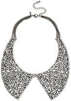 INC International Concepts Hematite-Tone Metallic Pavé Peter Pan Collar Necklace, Only at Macy's