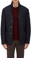 Isaia Men's Cashmere Down-Quilted Jacket-NAVY