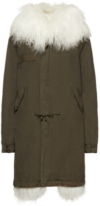 Mr & Mrs Italy Shearling-trimmed Cotton-canvas Parka