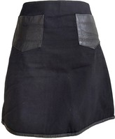 Rika Black Cotton Skirt for Women