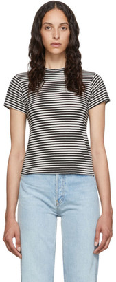 RE/DONE Black and White Striped Classic T-Shirt