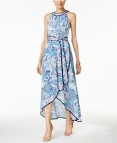 Jessica Howard Petite Printed High-Low Maxi Dress
