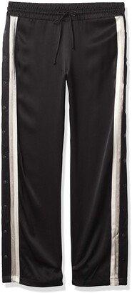 Monrow Women's Tear Away Pants with Contrast Piping