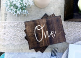 Etsy Wedding Double Sided Table Numbers, Script, Cursive Wooden Table Numbers, Rustic, Wood Table Numbers