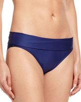 Splendid Sunblock Banded Bikini Swim Bottom, Navy