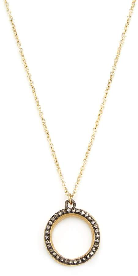Armenta Women's Old World 18K Gold & 0.20 Total Ct. Champagne Diamond Open Round Pendant Necklace