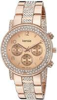 Kensie Women's Quartz Metal and Alloy Casual Watch, Color:Rose Gold-Toned (Model: KEN5269)