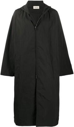 Fear Of God Rear Logo Print Hooded Coat