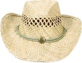 Simplicity Kid Western Straw Cowboy Hat Adjustable String Butterfly Band,KST-005