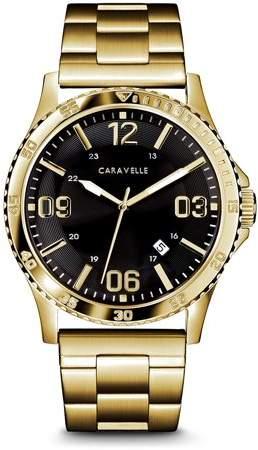 37103815d Men Black Gold Watch Bulova - ShopStyle