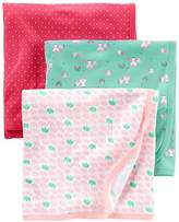 Simple Joys by Carter's Baby Girls' 3-Pack Cotton Swaddle Blanket
