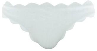 Marysia Swim Antibes Scallop-edged Bikini Briefs - Womens - Light Blue