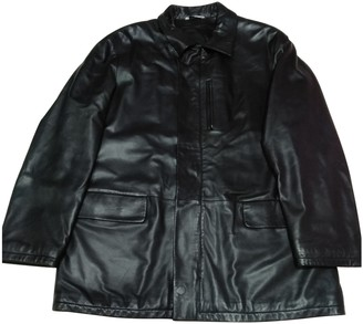 Loro Piana Black Leather Coats