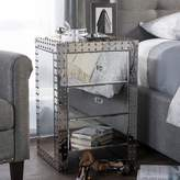 Baxton Studio Azura Mirrored Nightstand