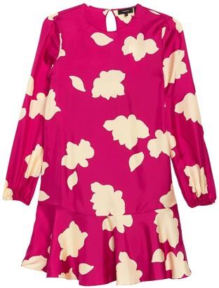 Theory Ruffle Hem Silk Dress
