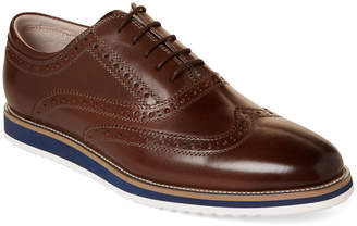 English Laundry Taupe Rory Brogue Leather Oxfords