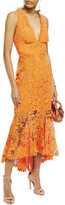 Thumbnail for your product : Maria Lucia Hohan Midori Fluted Lace-up Cotton Guipure Lace Midi Dress