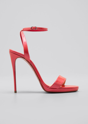 Christian Louboutin 120mm Loubi Queen Patent Red Sole Sandals