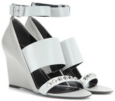 Balenciaga Embellished leather wedge sandals
