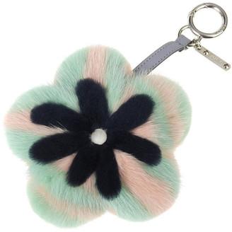 Fendi Multicolor Mink Fur Flower Bag Charm and Key Holder