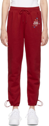 Opening Ceremony Red Branded Lounge Pants