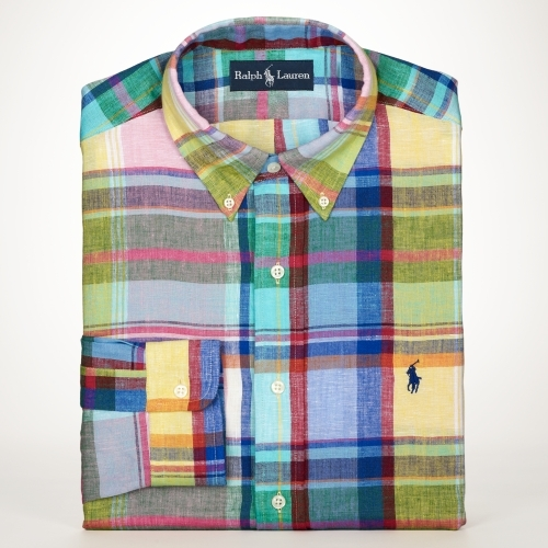 Ralph Lauren Classic-Fit Linen Sport Shirt