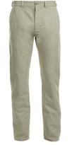 MAISON KITSUNÉ Men's Linen Jay Chino Trousers Beige