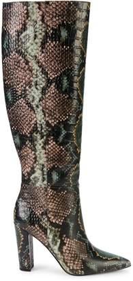 Sam Edelman Raakel Snakeskin-Embossed Leather Knee-High Boots