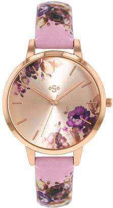 Lacoste Tu SPIRIT Floral Lilac Leather Effect Strap Watch