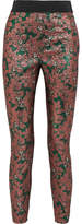 Dolce & Gabbana Metallic Jacquard Leggings - Pastel pink