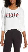 PJ Salvage Wild Heart Meow Print Long Sleeve Top