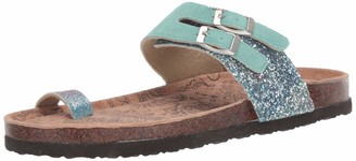 Muk Luks Women's Daisy Terra Turf-Mint Sandal 7 M US