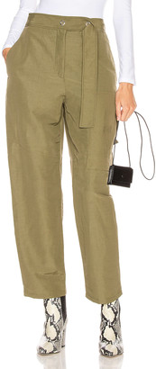 Acne Studios Peganne Trouser in Khaki Green | FWRD