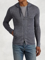John Varvatos Striped Zip Hoodie