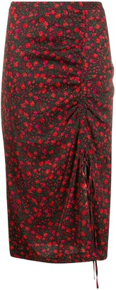 Essentiel Antwerp Floral-Print Pencil Skirt