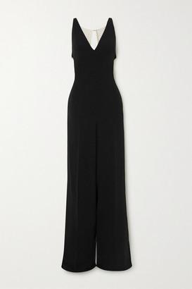 Stella McCartney + Net Sustain Chain-embellished Crepe Jumpsuit - Black