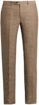 Brioni Straight-leg linen trousers