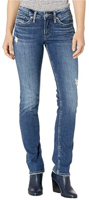 Silver Jeans Co. Suki Mid-Rise Curvy Fit Straight Leg Jeans L93413SSX378 (Indigo) Women's Jeans
