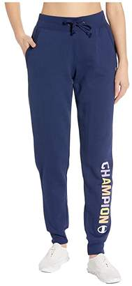 Champion Powerblend(r) Graphic Jogger (Athletic Navy) Women's Casual Pants