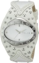 Police Women's Vamp PL11600MS/01 Leather Analog Quartz Watch with Silver Dial