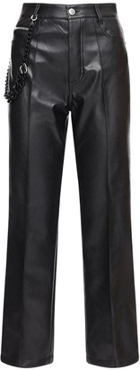Ermanno Scervino Faux Leather Straight Pants