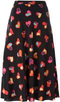 Moschino hearts print A-line skirt