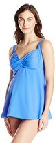 Prego Maternity Women's maternity Solid Twist Baby Doll Tankini