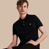 Burberry Cotton Piqué Polo Shirt, Blue