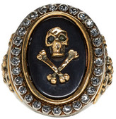Alexander McQueen Silver Skull & Cross Bone Ring