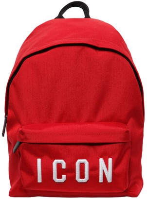 DSQUARED2 Icon Patches Nylon Canvas Backpack